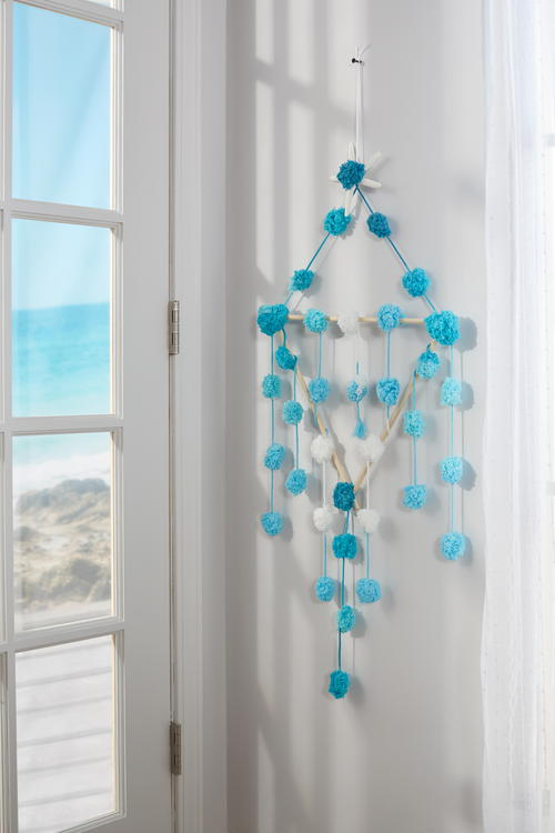 Beachy Pom Pom Wall Hanging