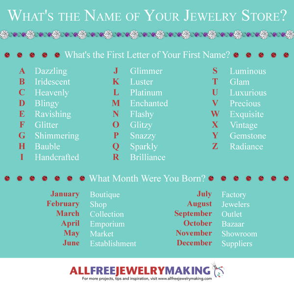 What's the Name of Your Jewelry Store?