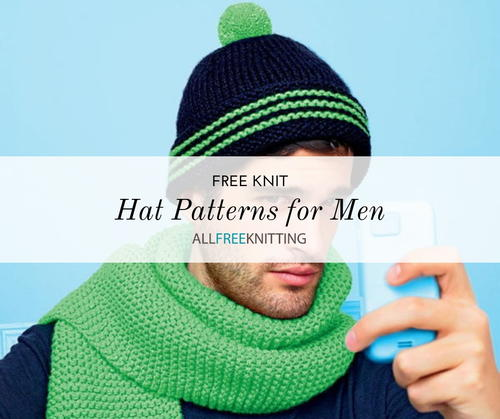 8141dd825d6 20 Knit Hat Patterns for Men (Free)