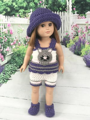 doll cardigan knitting pattern - Quince and Co | 400x300