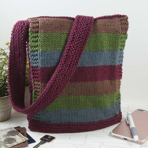 Easy Knit Messenger Bag