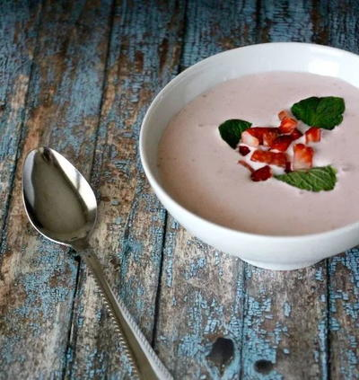 Carnival-Inspired Strawberry Bisque