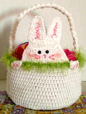 Easter Crochet Peek a Boo Rabbit Basket