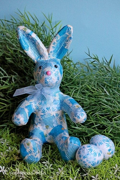 Decoupage Patchwork Easter Bunny