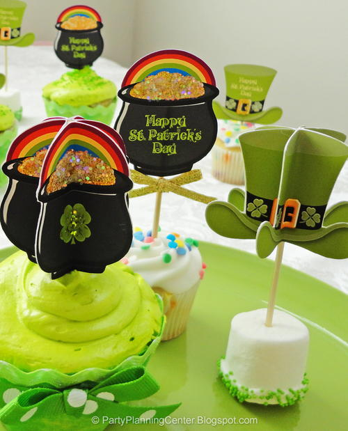 3D St. Patrick's Day Toppers