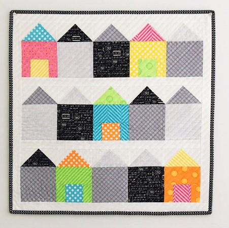 Beach Boxes House Quilt Pattern