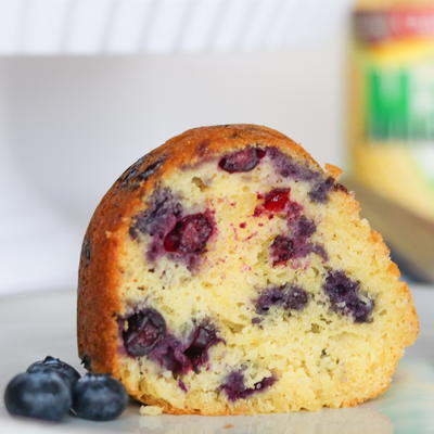 Guilt-Free Blueberry Lemon Pound Cake