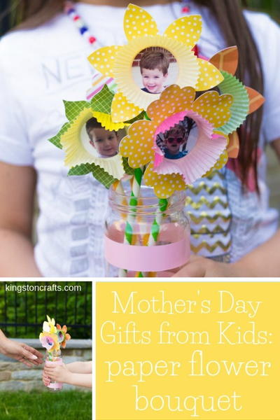 Mother's Day Gifts from Kids: Paper Flower Bouquet