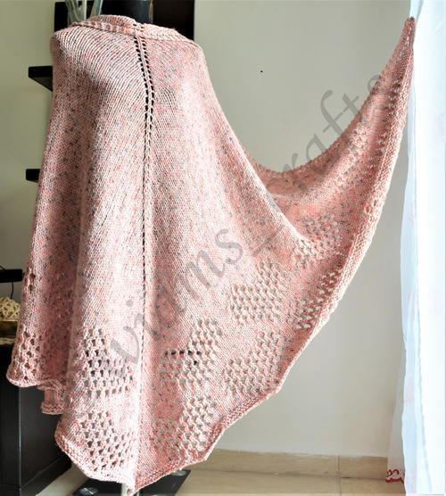 Lace Hearts Tweed Shawl