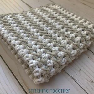 Striped HDC Dishcloth