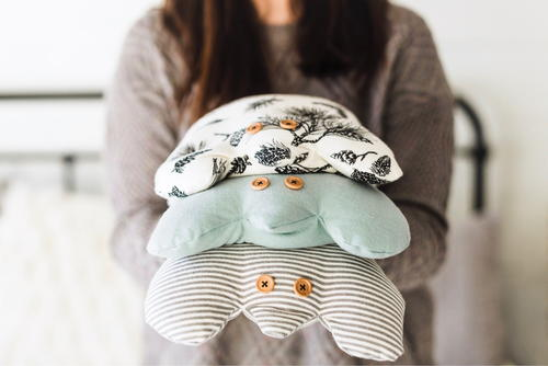 DIY Flannel Rice Frog Warmer