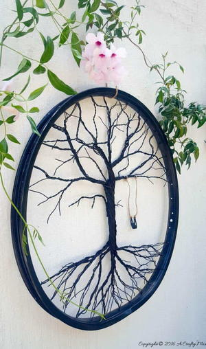 Tree of Life Bicycle Wheel Craft