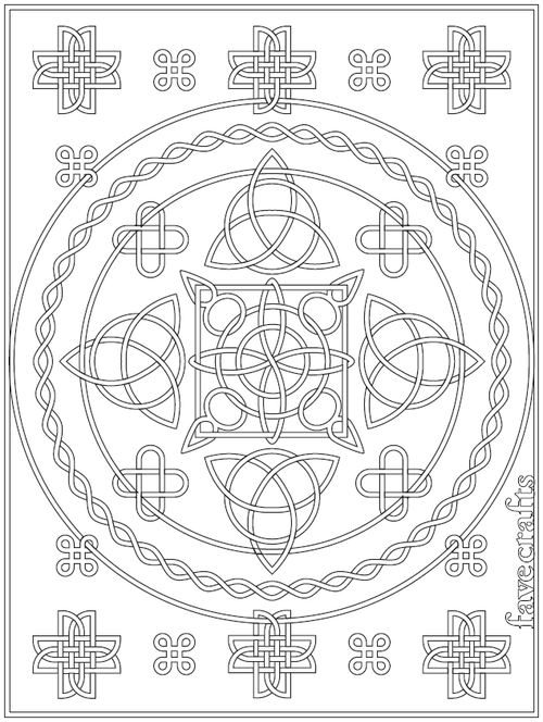 Free Printable Celtic Knot Coloring Page