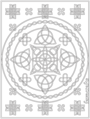 Free Printable Celtic Knot Coloring Page Favecrafts Com