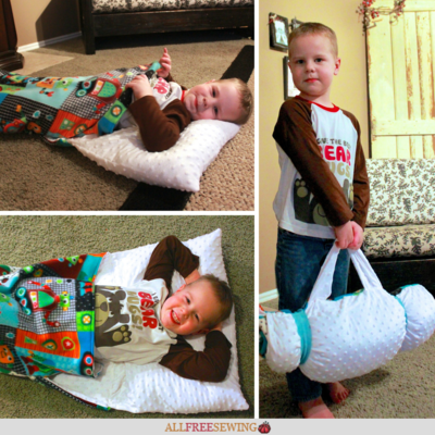 DIY Nap Mat with Pillow for Kids