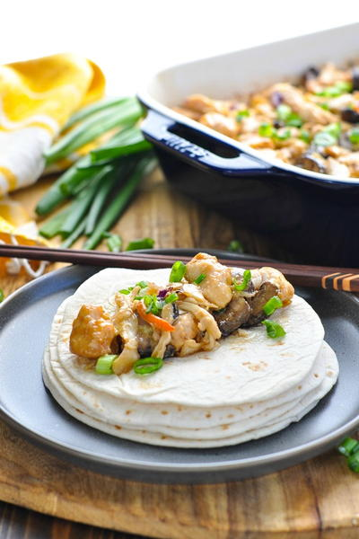 Dump-and-Bake Moo Shu Chicken