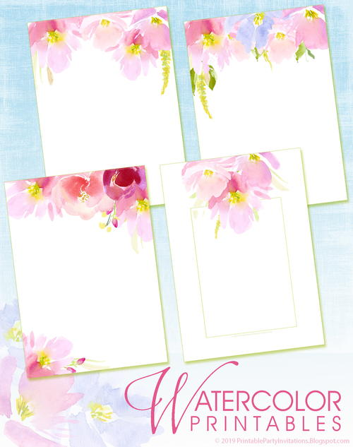 image about Watercolor Printable known as Floral Watercolor Printables