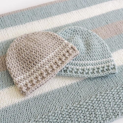 Easy Striped Crochet Baby Hat Pattern