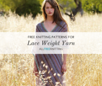 24 Free Lace Weight Yarn Knitting Patterns