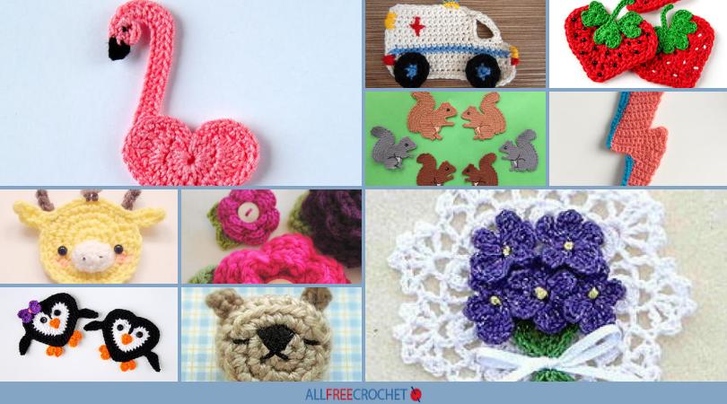 42 Crochet Pins And Crochet Applique Patterns Allfreecrochetcom