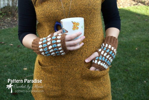 Diamonds and Gems Fingerless Gloves