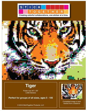 Stunning Tiger Paint by Stickers Kit Giveaway