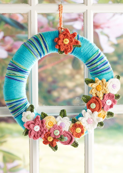 Watercolor DIY Yarn Wreath