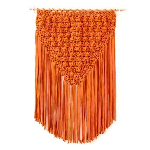 Bernat Popping Fringe Crochet Wall Hanging Pattern