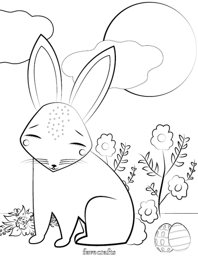 Free Printable Easter Bunny Coloring Page