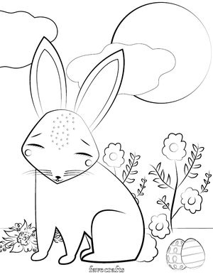 Free Printable Easter Bunny Coloring Page Favecrafts Com