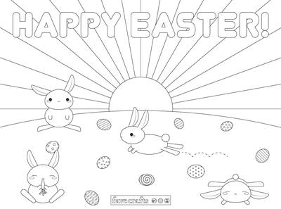 Easter Placemats Printable Coloring Page