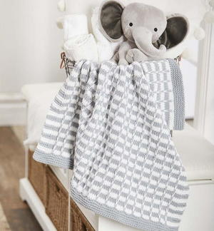 Lincoln Easy Knit Baby Blanket