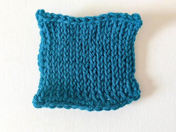 Example of Tunisian Knit Stitch