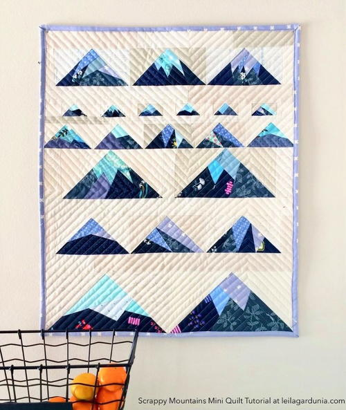 Scrappy Mountain Quilt Tutorial