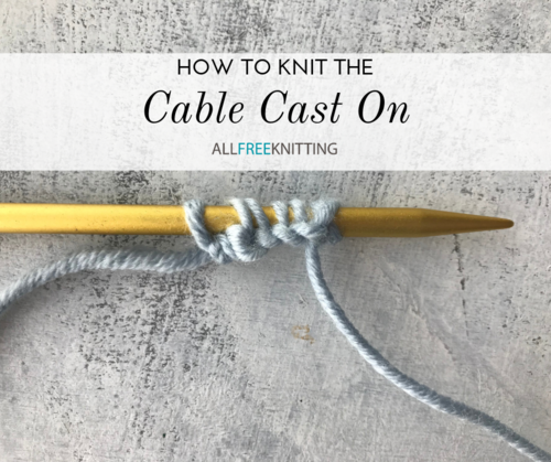 How to Knit the Cable Cast On