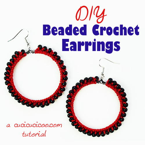 DIY Beaded Crochet Earrings