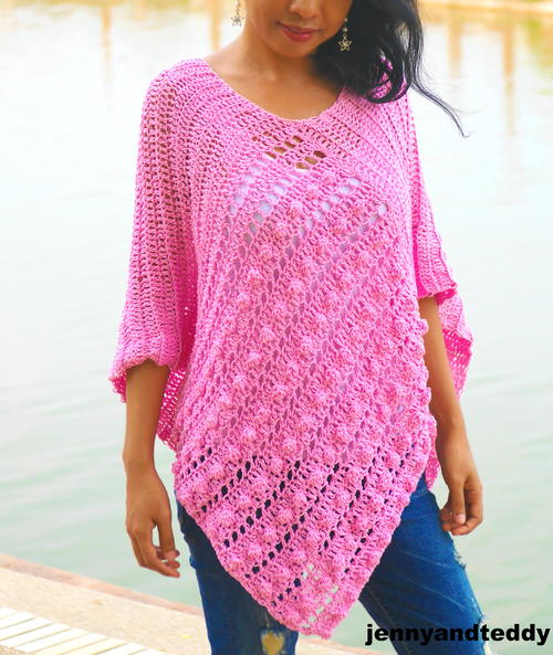 Bubble Gum Easy Poncho