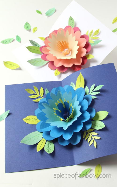 Colorful Pop-Up DIY Mothers Day Card
