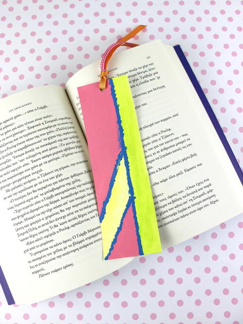 Painted Paper Bookmark