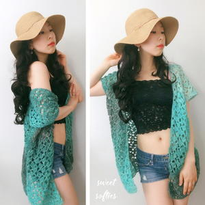 Beach Breeze Summer Cover-Up Kimono Top