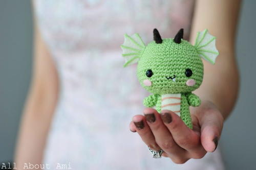 Cutesy Green Dragon Amigurumi