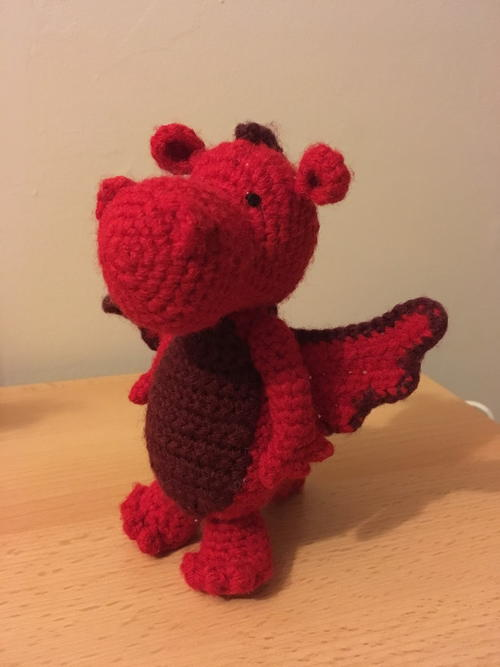 Fired Up Amigurumi Dragon