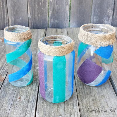 Decorated Sand Art Jars