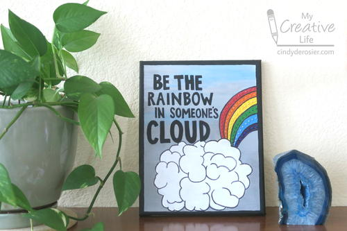 Be the Rainbow in Someones Cloud Coloring Page Canvas