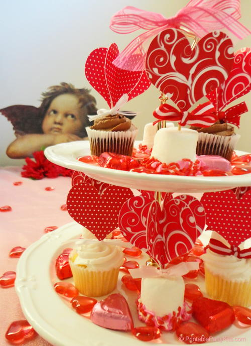 Valentine's Day Cupcake Toppers