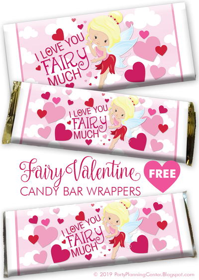 Fairy Valentine's Day Candy Wrapper
