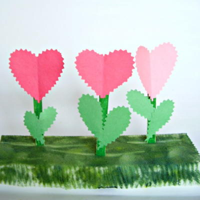 Valentine Flower Garden Craft