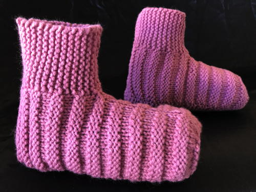 How to Knit Ribbed Bootie Slippers for Adults