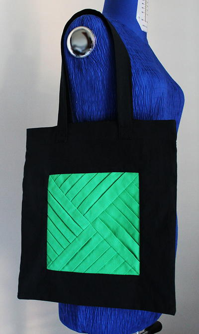 Tote Bag with a Pleated Motif