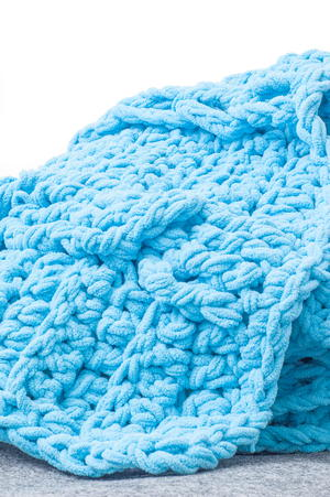 Braids and Twists Crochet Throw